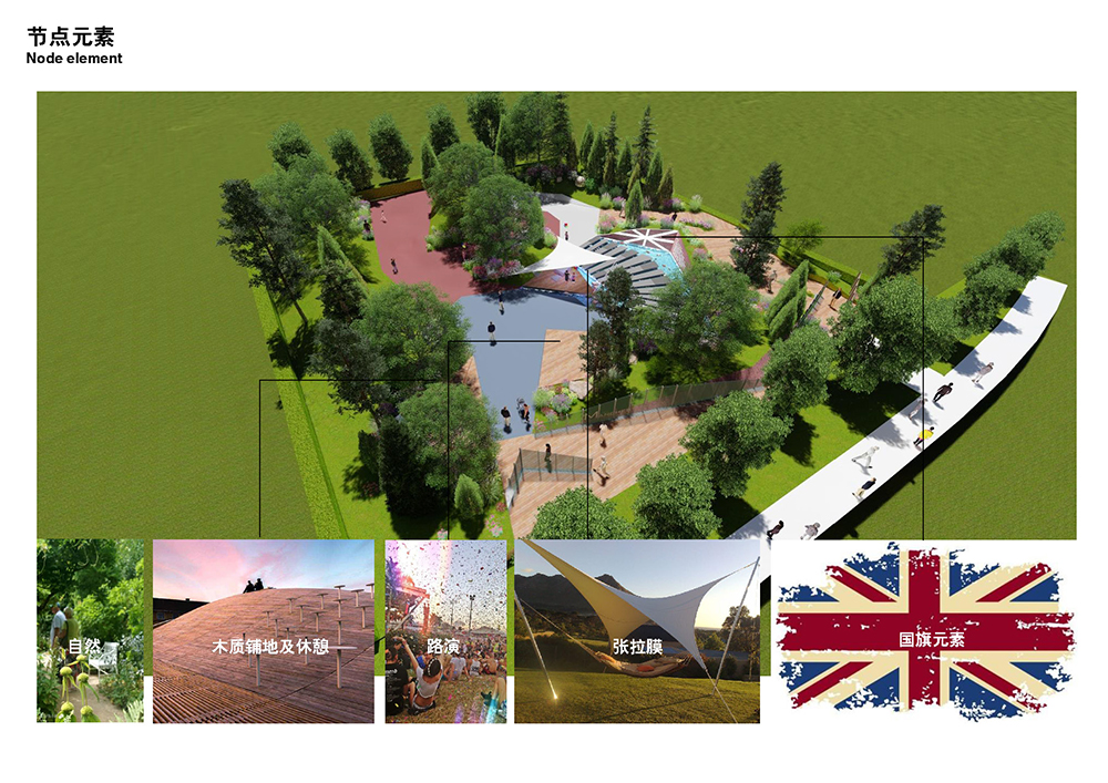 英国展园平面图